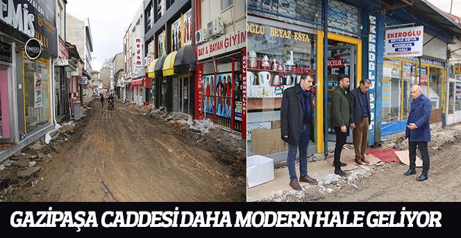 Gazipaşa Caddesi Daha Modern Hale Geliyor