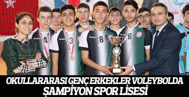 Okullararası Genç Erkekler Voleybolda Şampiyon Spor Lisesi