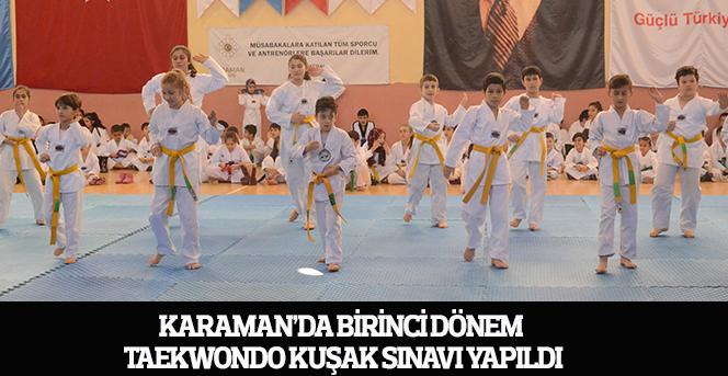 Birinci Dönem Taekwondo Kuşak Sınavı Yapıldı