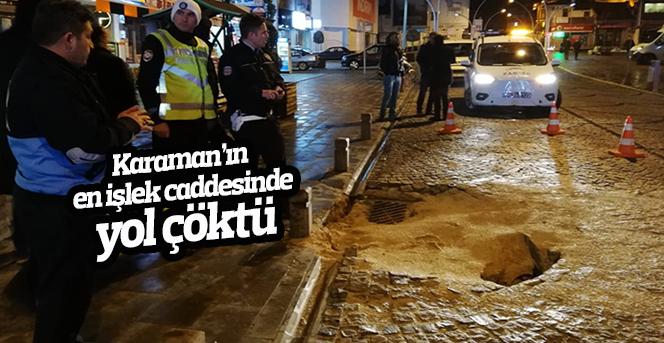 İsmet Paşa caddesi çöktü