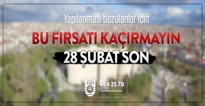 7143 Sayılı Kanun İle Yapılanması Bozulan Vatandaşlara Son Fırsat