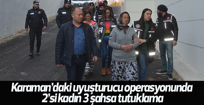 Uyuşturucu Satıcısı 2'si kadın 3 şahıs tutuklandı