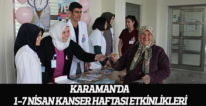 Vatandaşlar kansere karşı bilgilendirildi