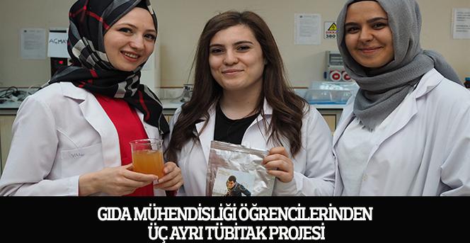 Gıda Mühendisliği Öğrencilerinden Üç Ayrı Tübitak Projesi