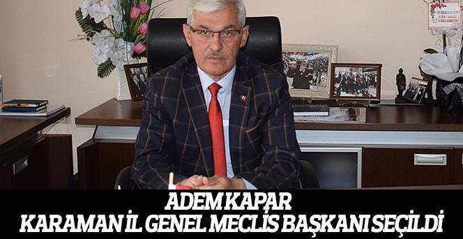 Adem Kapar yeni başkan seçildi.