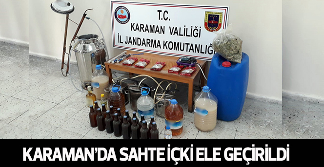 Karaman'da Sahte İçki Ele Geçirildi