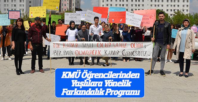 KMÜ Öğrencilerinden Yaşlılara Yönelik Farkındalık Programı