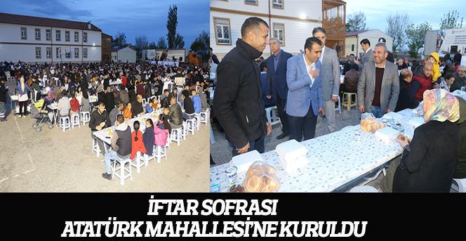 İftar Sofrası Atatürk Mahallesi'ne Kuruldu