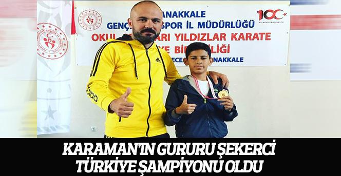 Karaman'ın Gururu Şekerci, Türkiye Şampiyonu Oldu