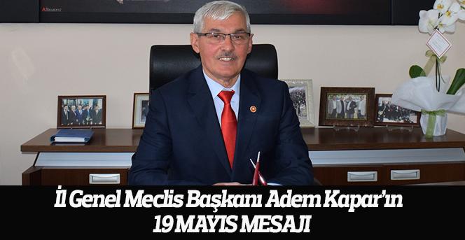 Adem Kapar'ın 19 Mayıs Kutlama Mesajı