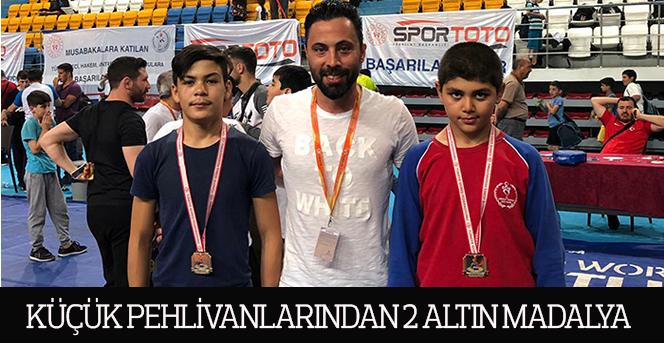 Karaman'ın Küçük Pehlivanlarından 2 Altın Madalya