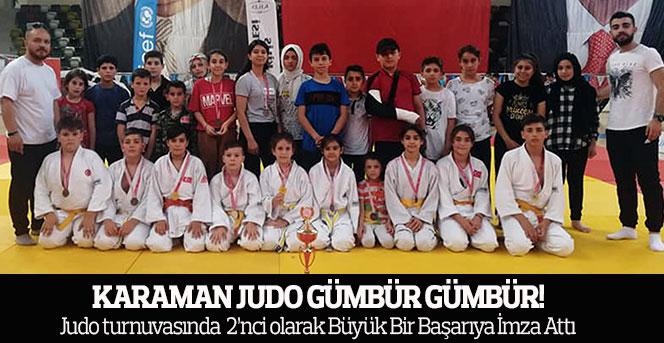 Karaman Judo Takımı,Judo turnuvasında  2'nci olarak Büyük Bir Başarıya İmza Attı
