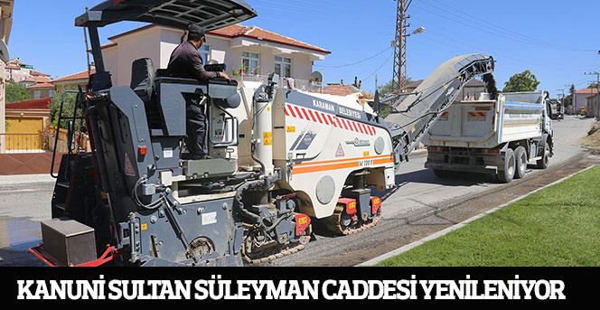 Kanuni Sultan Süleyman Caddesi Yenileniyor