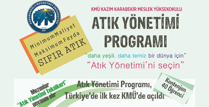 KMÜ, Türkiyede İlk Ve Tek Olan Atık Yönetimi Programına Öğrenci Alacak