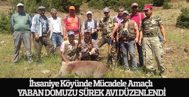 İhsaniye Köyünde Yaban Domuzu Sürek Avı Düzenlendi