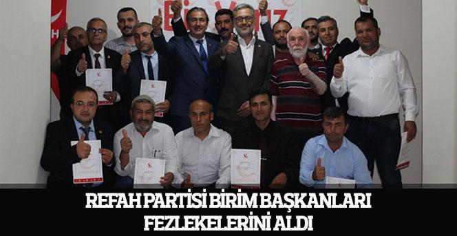 Refah Partisi Birim Başkanları Fezlekelerini Aldı