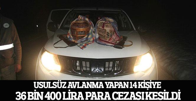 Karaman'da usulsüz avlananlara para cezası