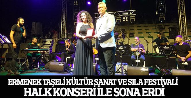Ermenek Taşeli Kültür Sanat Ve Sıla Festivali Halk Konseri İle Sona Erdi