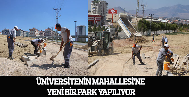 Üniversitenin Mahallesi'ne Yeni Bir Park Yapılıyor