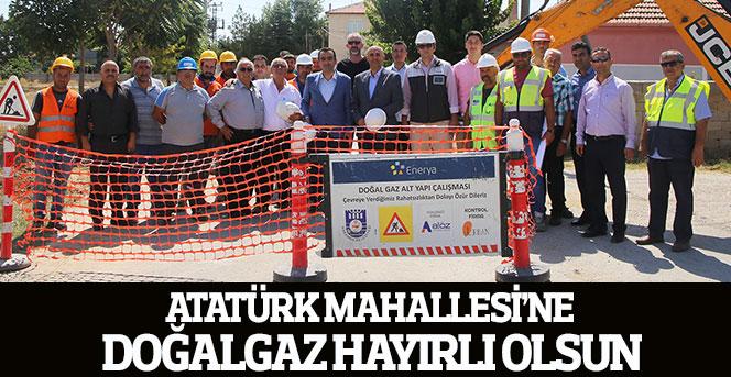 Atatürk Mahallesi'ne Doğalgaza Kavuştu
