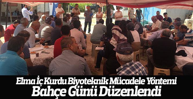 Elma İç Kurdu Biyoteknik Mücadele Yöntemi Bahçe Günü Düzenlendi