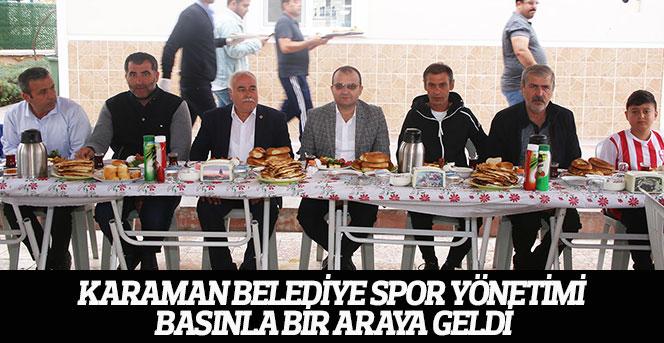 Karaman Belediye Spor Yönetimi Basınla Bir Araya Geldi