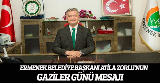 Ermenek Belediye Başkanı Zorlu'nun Gaziler Günü Mesajı