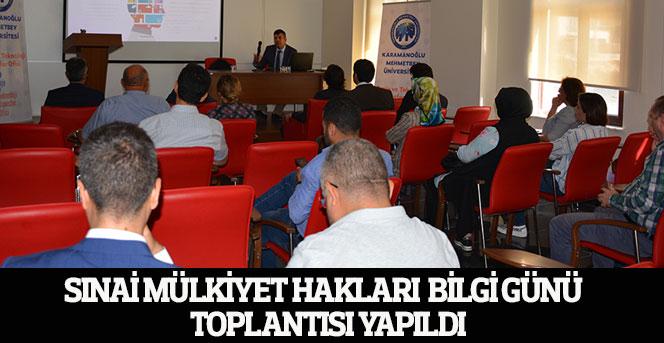 Sınai Mülkiyet Hakları  Bilgi Günü  Toplantısı Yapıldı