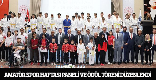 Amatör Spor Haftası Paneli Ve Ödül Töreni Düzenlendi