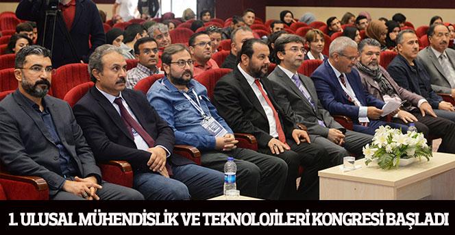 1. Ulusal Mühendislik Ve Teknolojileri Kongresi Başladı