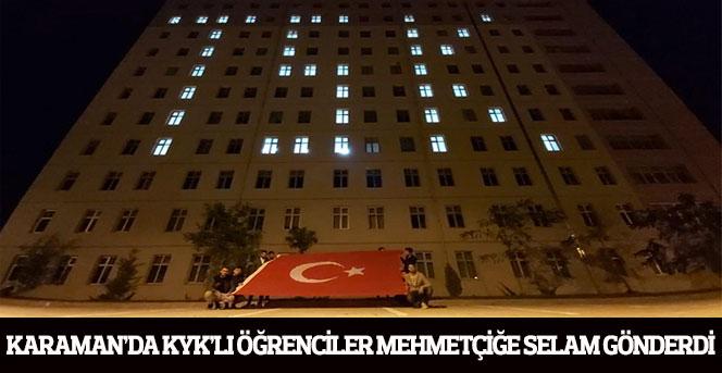 KYK'LI Öğrenciler Mehmetçiğe Selam Gönderdi