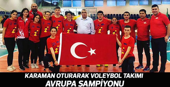 Karaman Oturarak Voleybol Takımı Avrupa Şampiyonu