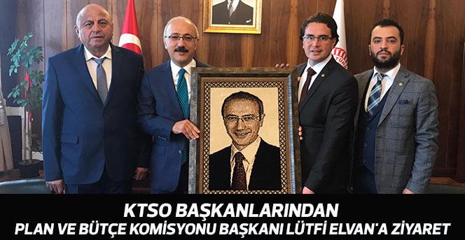 KTSO  Başkanlarından Lütfi Elvan'a  Ziyaret