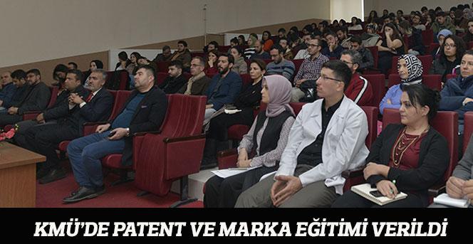 KMÜ'de Patent Ve Marka Eğitimi Verildi
