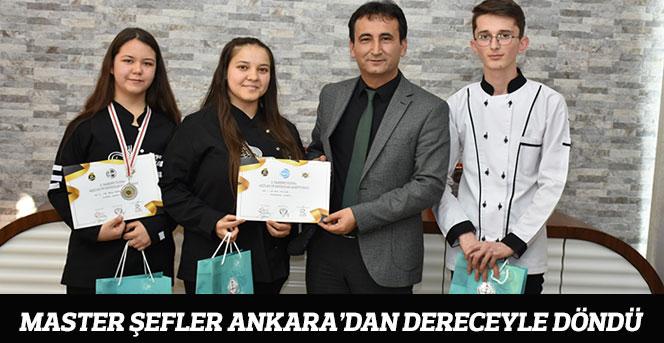 Master Şefler Ankara'dan Dereceyle Döndü