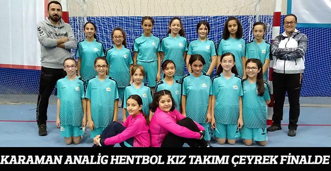 Karaman Analig Hentbol Kız Takımı Çeyrek Finalde