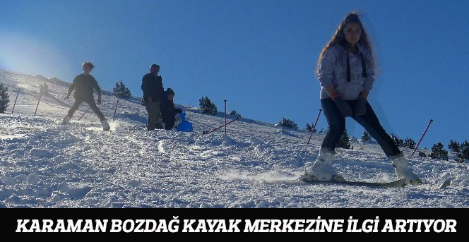 Karaman Bozdağ Kayak Merkezine İlgi Artıyor