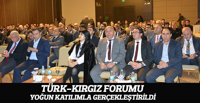 Türk-Kırgız Forumu Yoğun Katılımla Gerçekleştirildi