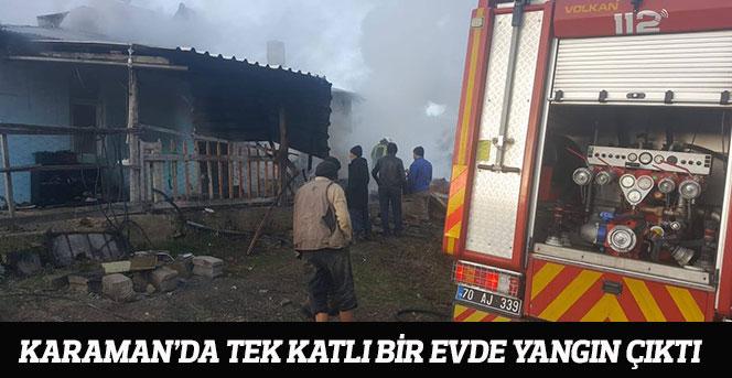 Karaman'da ev yangını