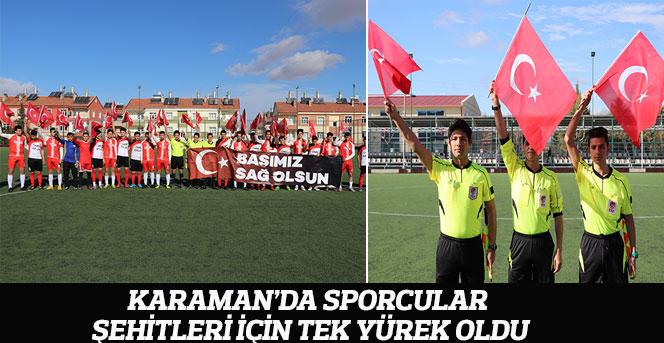 Karaman'da Sporcular Şehitleri İçin Tek Yürek Oldu