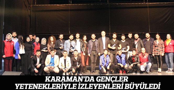 Karaman'da Gençler Hünerlerini Sergiledi
