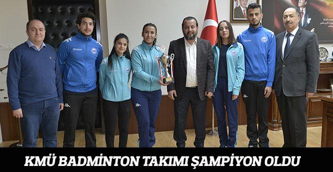KMÜ Badminton Takımı Şampiyon Oldu