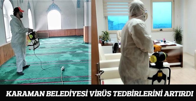 Karaman Belediyesi Virüs Tedbirlerini Artırdı