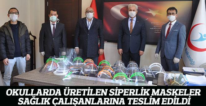 Okullarda Üretilen Siperlik Maskeler Sağlık Çalışanlarına Teslim Edildi
