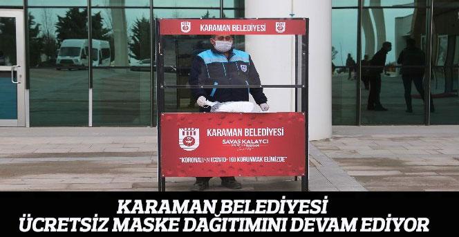 Karaman Belediyesi Ücretsiz Maske Dağıtımını Devam Ediyor