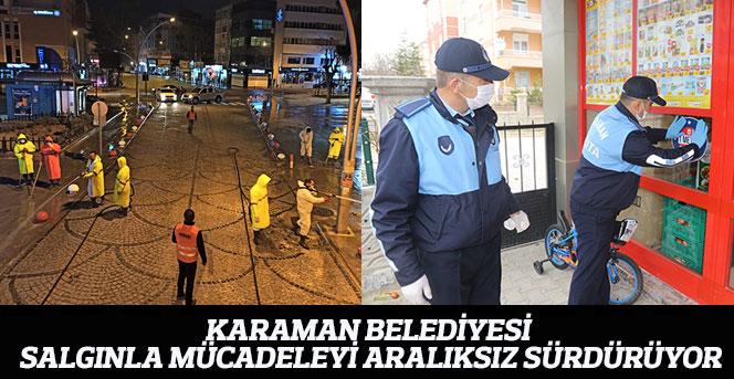 Karaman Belediyesi Salgınla Mücadeleyi Aralıksız Sürdürüyor