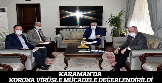 Karaman'da korona virüsle mücadele değerlendirildi