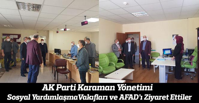 AK Parti yönetimi Aile ve Sosyal yardımlaşma ve AFAD'ı ziyaret etti.