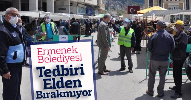Ermenek Belediyesi Tedbiri Elden Bırakmıyor