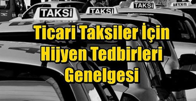 Ticari taksiler için hijyen tedbirleri duyurusu